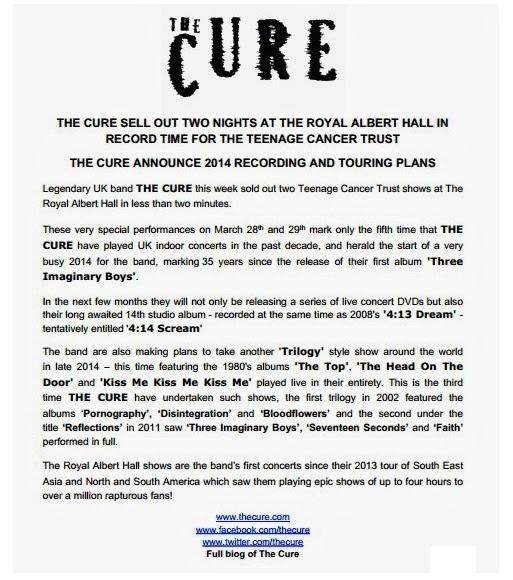 Cure 2014 press release