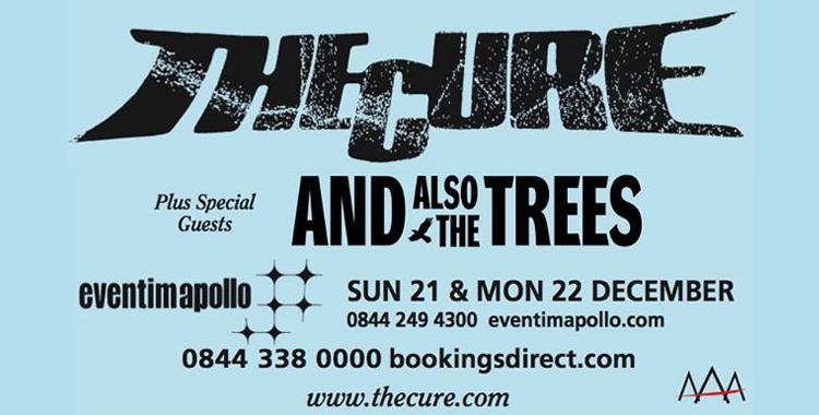 The Cure en concert à Londres les 21 & 22 décembre