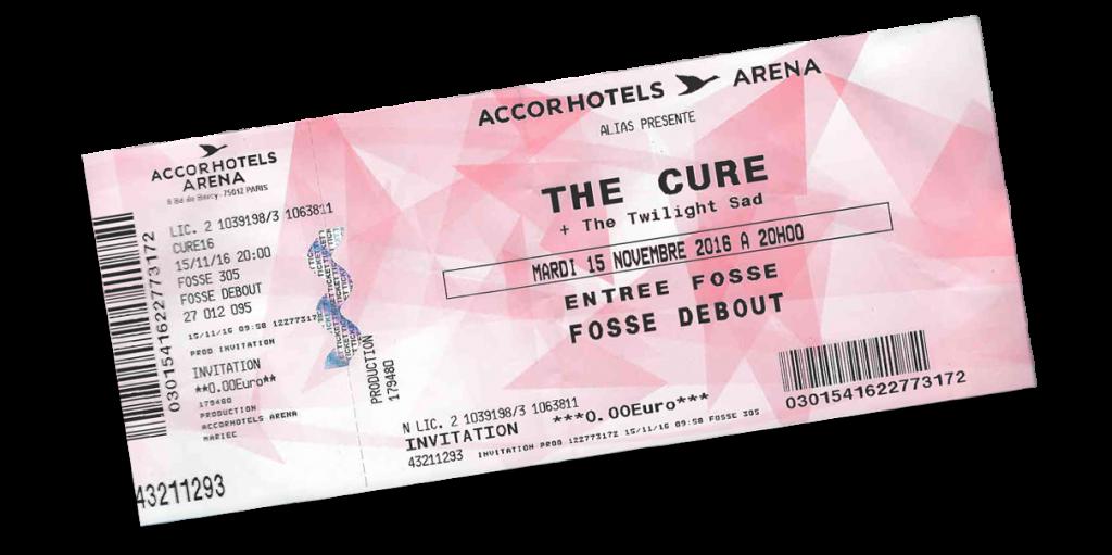 Après Toulouse en 1996, c'était seulement la 2e fois que j'étais invité à un concert de The Cure.