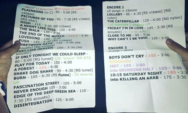 The Cure British Summer Time setlist - Photo : Lÿndsey Parker
